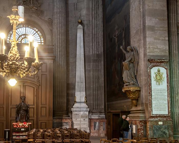 Paris Église Saint-Sulpice: Obelisk (Gnomon) als Verlängerung der Mittagslinie (la Méridienne)