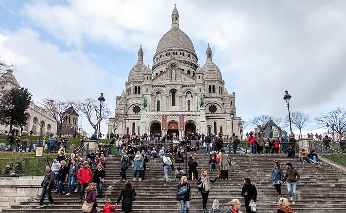 Paris Montmartre: Square Louise-Michel, Basilique du Sacré-Coeur