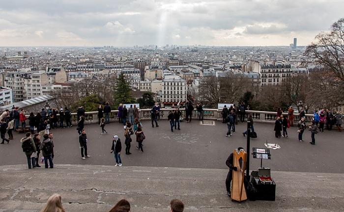 Square Louise-Michel - Blick von Montmartre Paris 2014