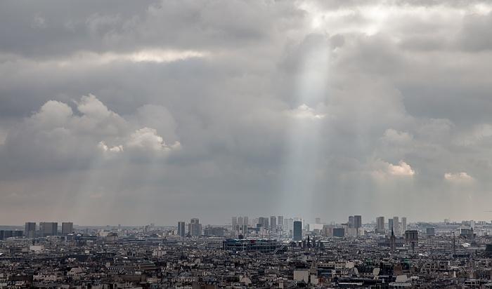 Blick von Montmartre Paris 2014