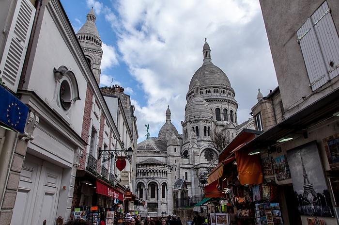 Paris Montmartre: Rue du Chevalier de la Barre, Basilique du Sacré-Coeur