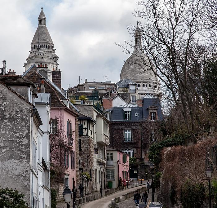 Paris Montmartre: Rue de l'Abreuvoir, Basilique du Sacré-Coeur