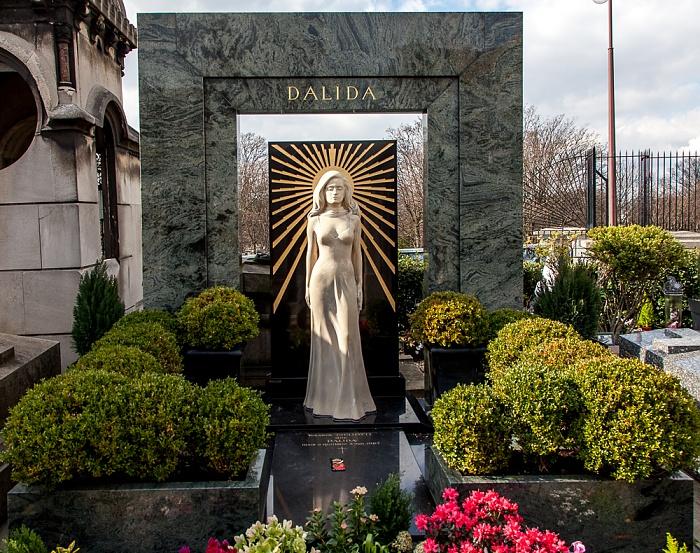 Paris Cimetière de Montmartre: Grab von Dalida (Yolanda Cristina Gigliotti)