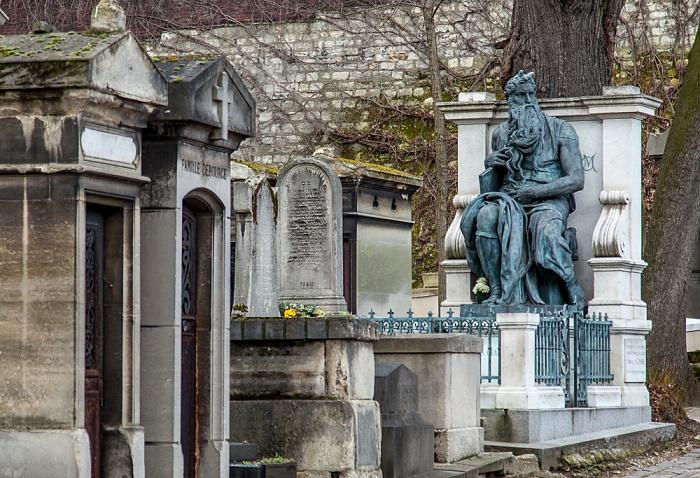 Paris Cimetière de Montmartre: Grab von Daniel Iffla (rechts)