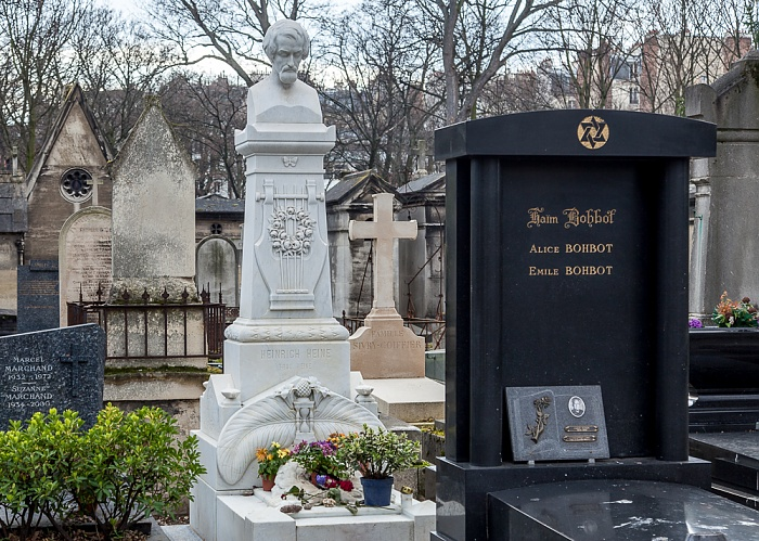 Paris Cimetière de Montmartre: Grab von Heinrich Heine (links)