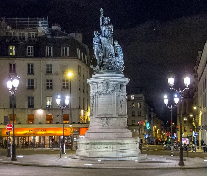 Paris Montmartre: Place de Clichy mit dem Marschall-Moncey-Denkmal