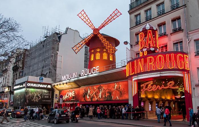 Paris Montmartre: Boulevard de Clichy - Moulin Rouge