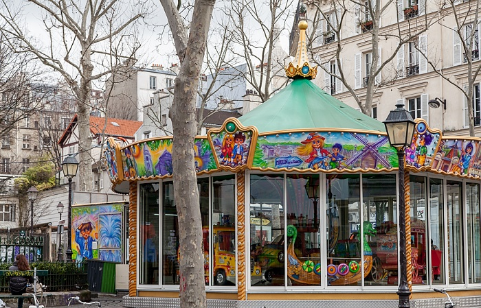 Paris Montmartre: Place des Abbesses - Karussell
