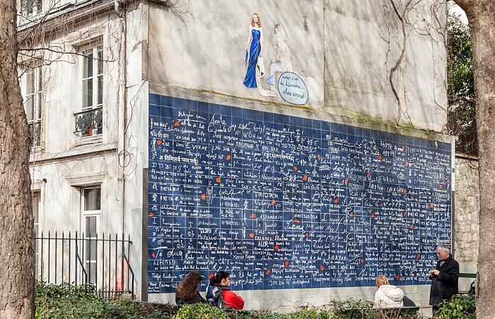 Paris Montmartre: Square Jehan-Rictus - Mur des je t'aime (Wand der Liebe)