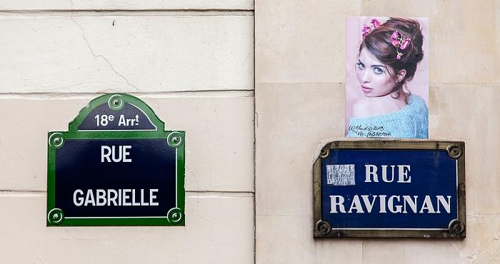 Paris Montmartre: Rue Gabrielle / Rue Ravignan