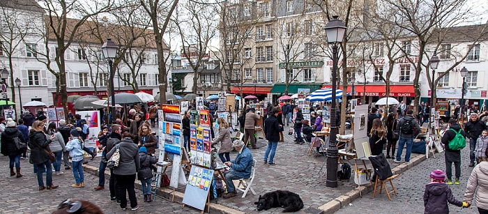 Paris Montmartre: Place du Tertre