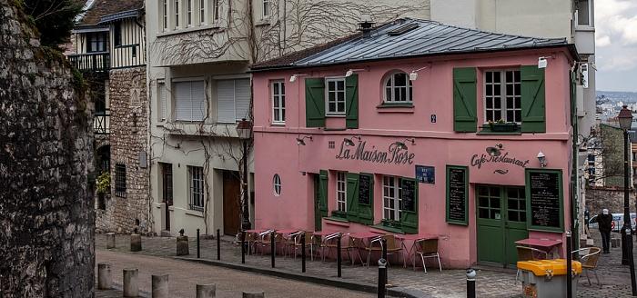 Paris Montmartre: Rue de l'Abreuvoir - La Maison Rose