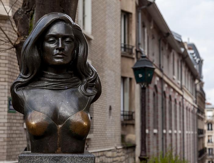 Paris Montmartre: Place Dalida - Denkmal für Dalida (Yolanda Cristina Gigliotti) Place Constantin-Pecqueur