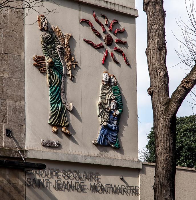Paris Montmartre: Rue Caulaincourt - Ecole Saint Jean de Montmartre