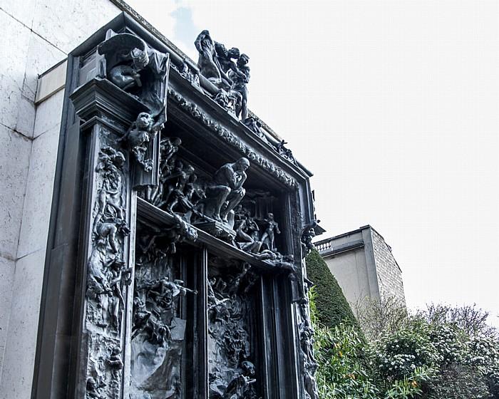 Musée Rodin: La Porte de l'enfer (Das Höllentor) (von Auguste Rodin) Paris