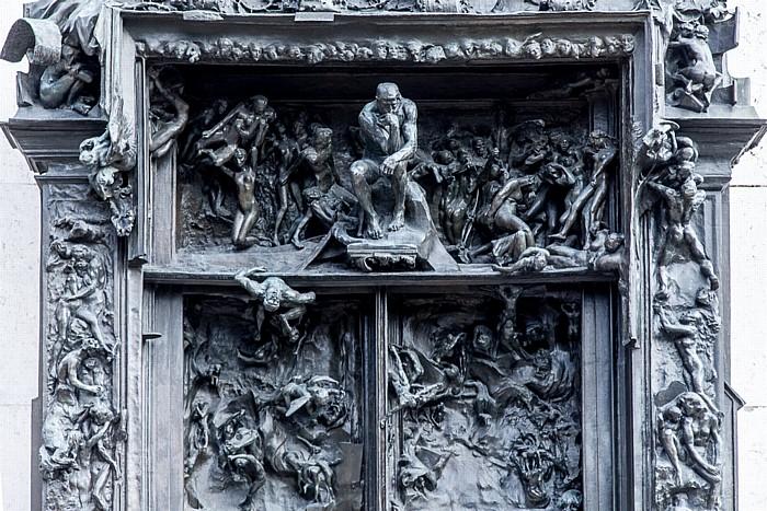 Paris Musée Rodin: La Porte de l'enfer (Das Höllentor) (von Auguste Rodin)