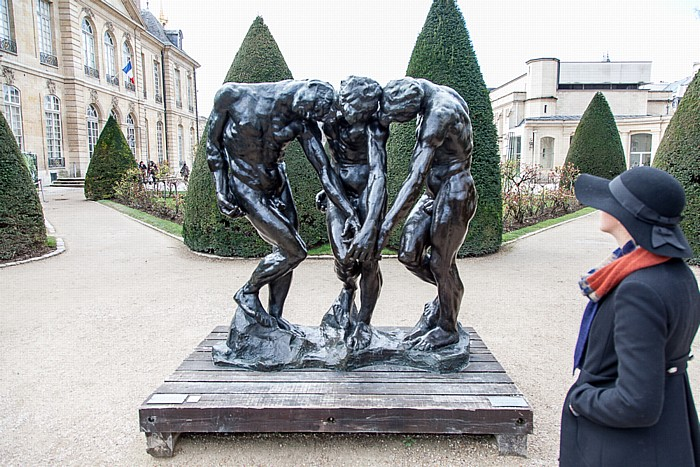 Paris Musée Rodin: Les Trois Ombres (Die drei Schatten) (von Auguste Rodin) Hôtel Biron