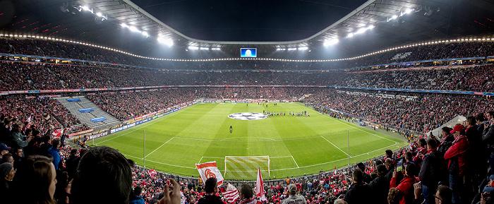 Allianz Arena: Vor dem Champions-League-Viertelfinale FC Bayern München - Manchester United München 2014