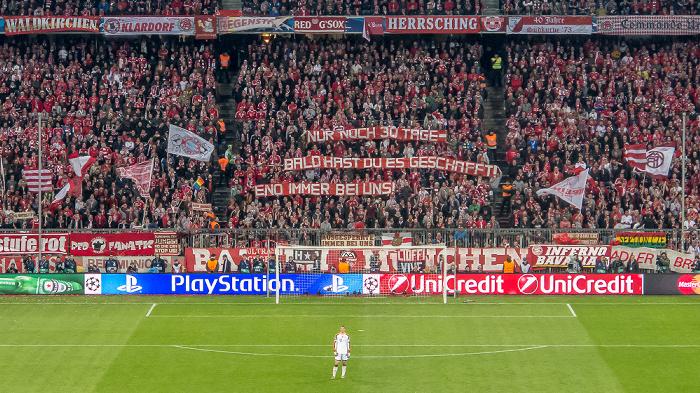 Allianz Arena: Champions-League-Viertelfinale FC Bayern München - Manchester United