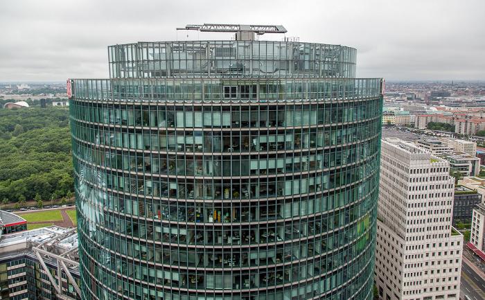 Blick vom Kollhoff-Tower: Sony-Turm (BahnTower) Berlin 2014