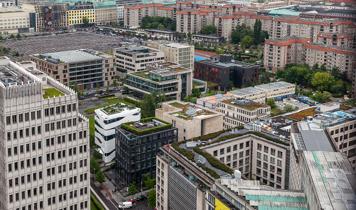 Berlin Blick vom Kollhoff-Tower Denkmal für die ermordeten Juden Europas Landesvertretungen der deutschen Länder