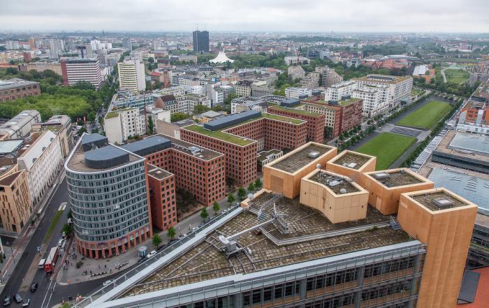 Blick vom Kollhoff-Tower: Park Kolonnaden Berlin 2014