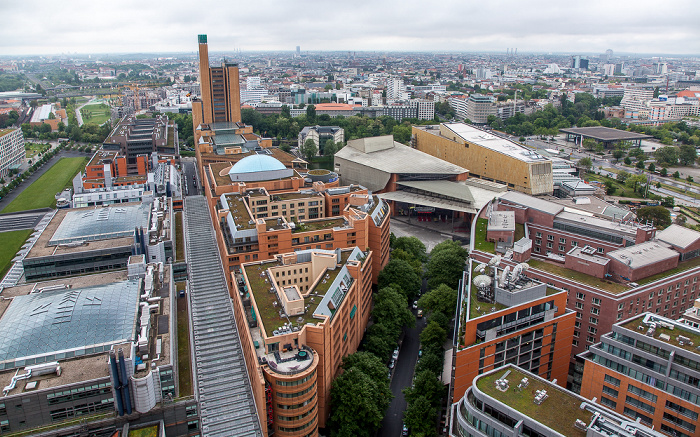 Blick vom Kollhoff-Tower: Quartier Daimler  Berlin 2014