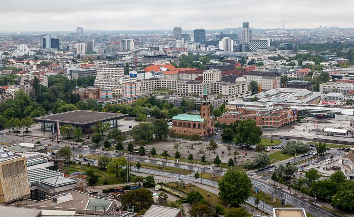 Blick vom Kollhoff-Tower: Kulturforum und Potsdamer Straße Berlin