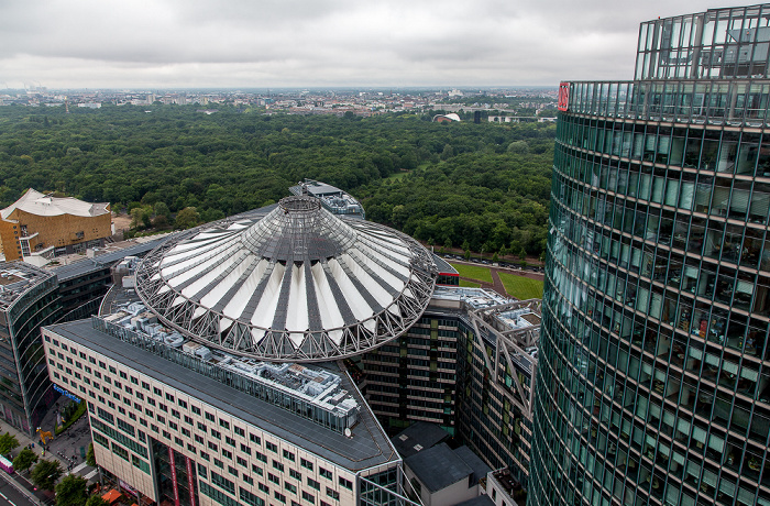 Blick vom Kollhoff-Tower: Sony Center Berlin 2014
