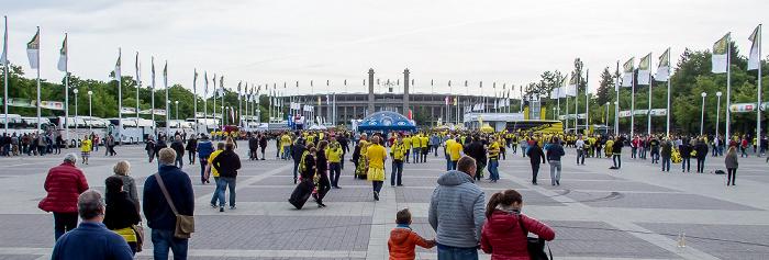 Olympischer Platz, Olympisches Tor, Olympiastadion, Glockenturm Berlin 2014