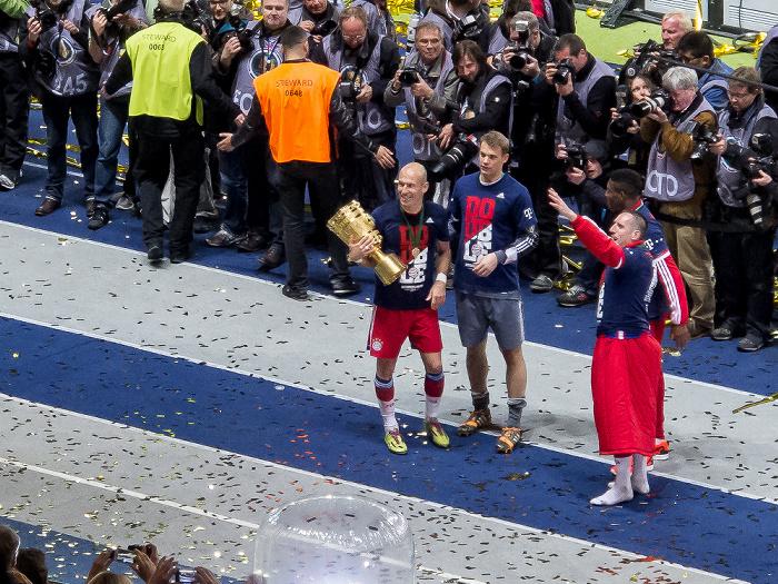 Olympiastadion: Arjen Robben, Manuel Neuer und Franck Ribéry Berlin