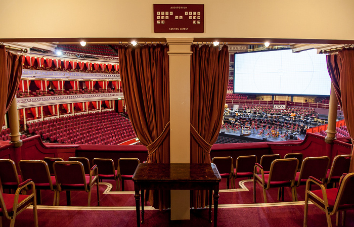 London Royal Albert Hall: Königliche Box