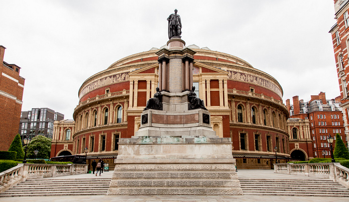 London South Kensington: Prinz-Albert-Denkmal, Royal Albert Hall