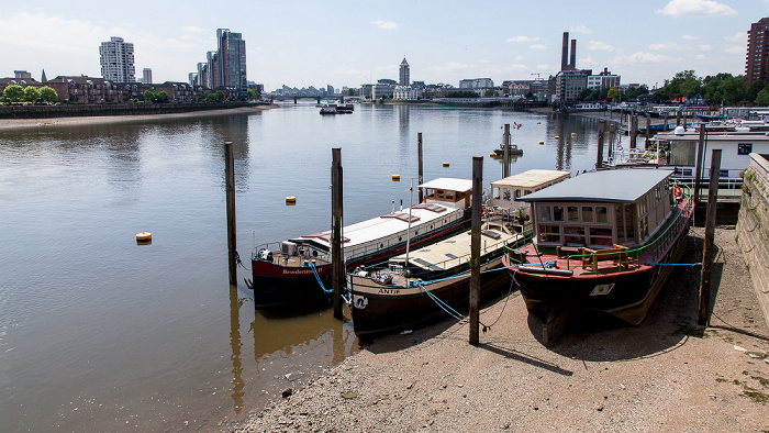 London Blick von der Battersea Bridge: Themse Chelsea