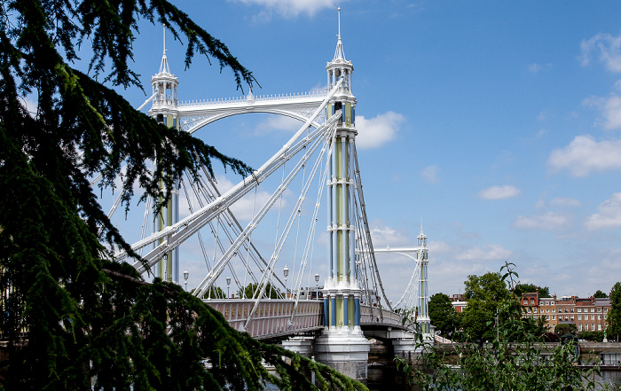 Blick vom Battersea Park: Albert Bridge London