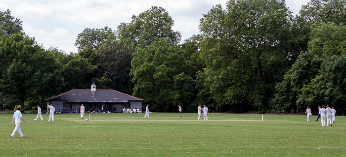 Battersea Park: Kricketfeld des King's Road Cricket & Social Club London
