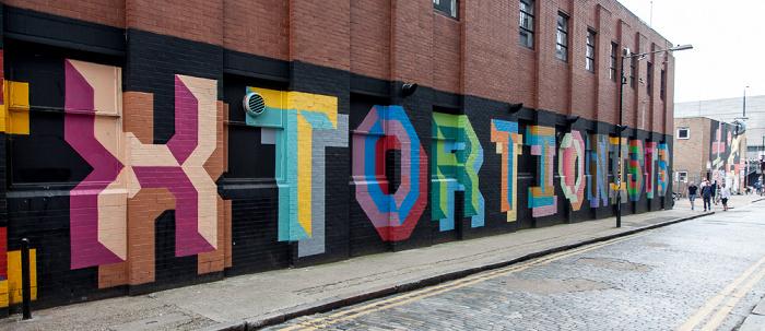 London Shoreditch: Ebor Street - Graffiti