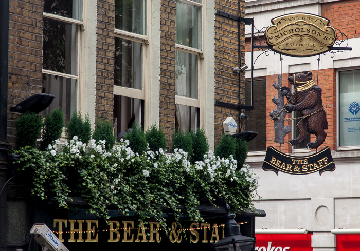 Charing Cross Road / Bear Street: The Bear & Staff London
