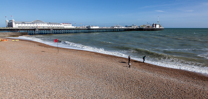 Strand, Ärmelkanal (English Channel), Brighton Pier (Brighton Marina and Palace Pier)