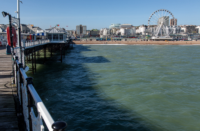 Brighton Pier (Brighton Marina and Palace Pier), Ärmelkanal (English Channel) Brighton Wheel