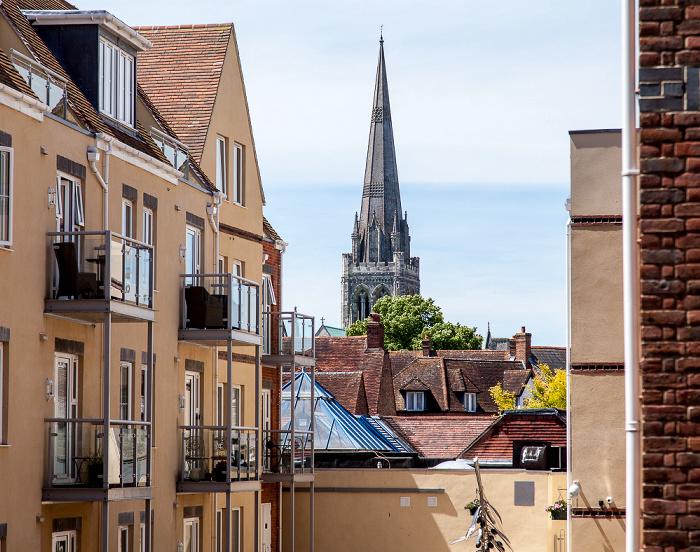 Blick von der Stadtmauer (East Walls): Chichester Cathedral