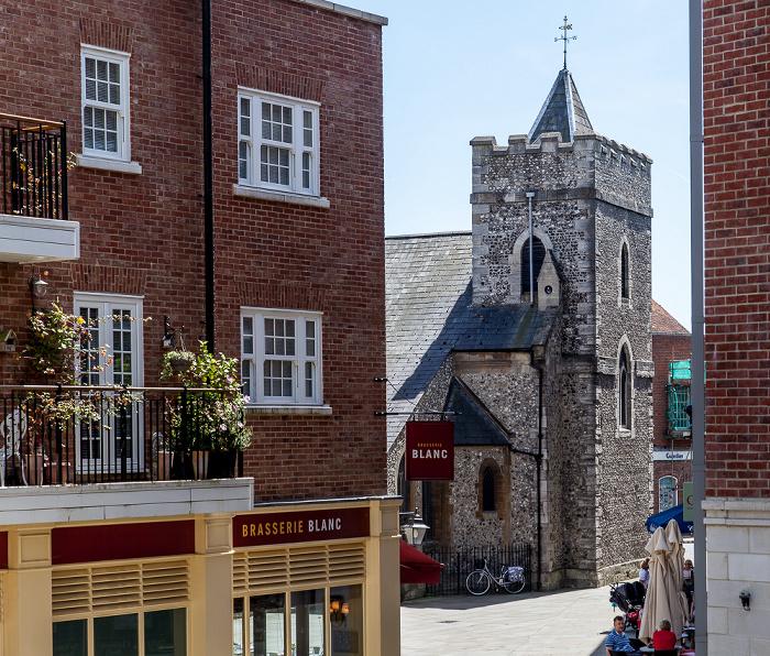 Chichester Blick von der Stadtmauer (East Walls): St Pancras Church