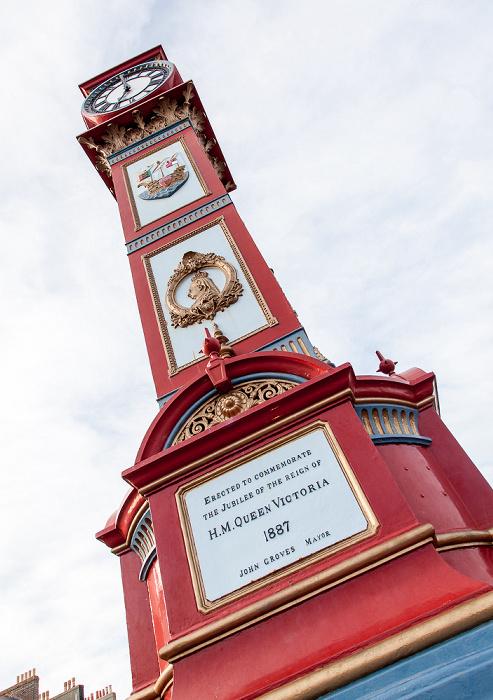 Weymouth The Esplanade mit Viktorianischer Jubilee Clock