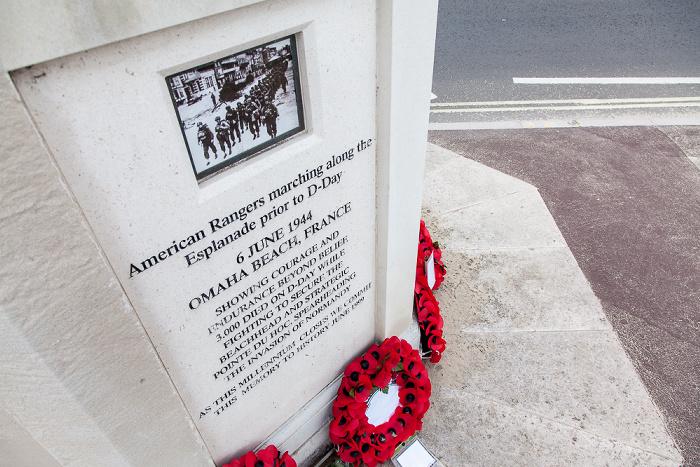 Weymouth The Esplanade: American War Memorial