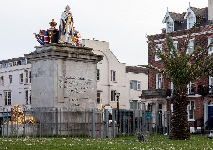 Weymouth The Esplanade: King's Statue (für Georg III.)