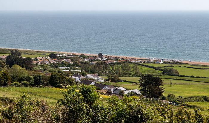 West Bexington, Dorset, Chesil Beach (Jurassic Coast), Ärmelkanal (English Channel)