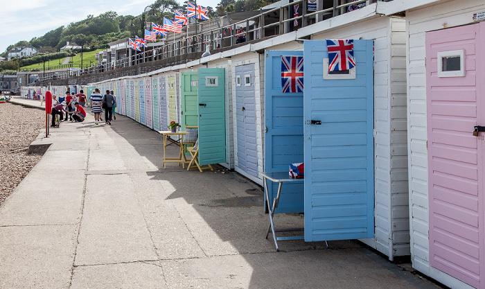 Lyme Regis Marine Parade: Strandhäuschen