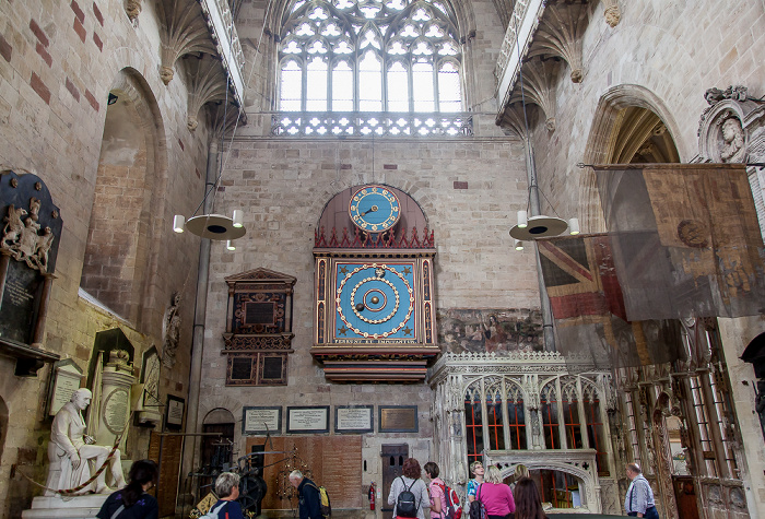 Exeter Cathedral: Astronomische Uhr