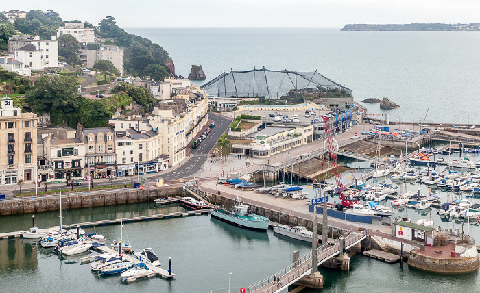 Blick aus The English Riviera Wheel: Torquay Harbour, Living Coasts Zoo & Aquarium, Ärmelkanal (English Channel)