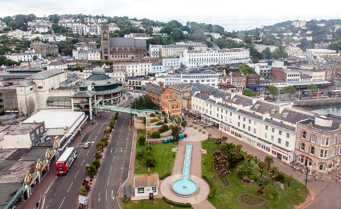 Torquay Blick aus The English Riviera Wheel Cary Estate Office Cary Parade Parish Church of St John the Evangelist